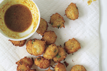 Crab Hush Puppies With Curried Honey mustard Sauce Epicurious 1.l Crab Hush Puppies with Curried Honey Mustard Sauce  Recipes