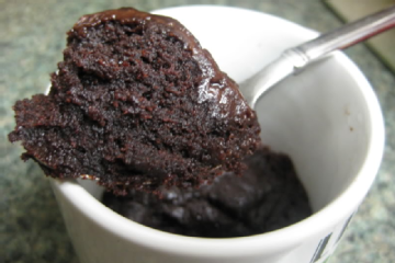 Microwave Brownie In A Mug  single Serving  Chow.l Microwave Brownie in a Mug Recipes