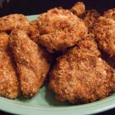 Oven Fried Chicken Thighs With Panko and Parmesan