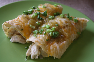 Chicken-Filled Enchiladas With Tangy Tomatillo Sauce Recipe ...