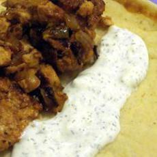 Traditional Greek Chicken Gyro With Tzatziki Sauce